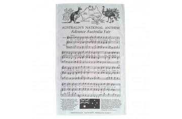 Australian National Anthem Tea Towel