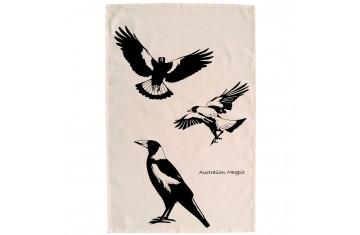 Australian Magpie Tea Towel