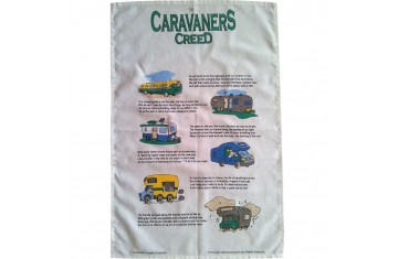 Caravaners Creed Tea Towel