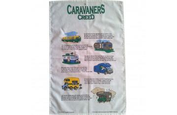 Caravaners Creed Tea Towel