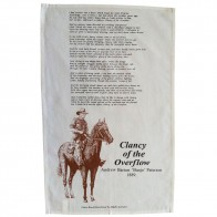Clancy of the Overflow Tea Towel