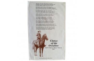 Clancy of the Overflow Tea Towel