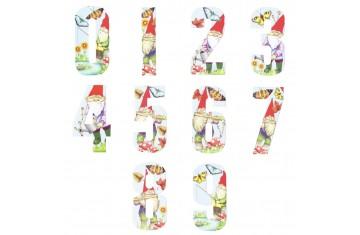 Wheelie Bin Numbers - Gnomes
