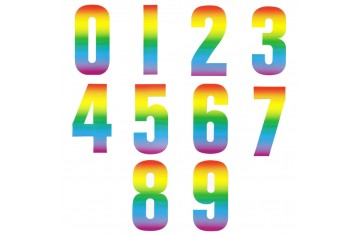 Wheelie Bin Numbers - Rainbow
