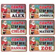 Santa Stop Here Sign - Personalised