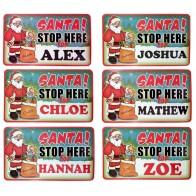 Santa Stop Here Sign - Personalised