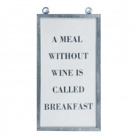 Framed Text Print - A Meal Without...