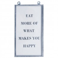 Framed Text Print - Eat More Of...