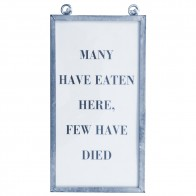 Framed Text Print - Many Have Eaten...