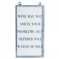 Framed Text Print - Wine May Not...