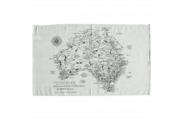 Map of Australia Tea Towel