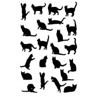 Cats Silhouette Tea Towel