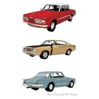 Classic Cars Valiants Tea Towel