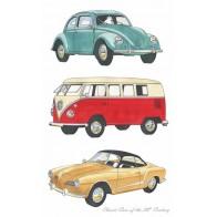 Classic Cars Volkswagons Tea Towel