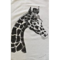 Laugh at Life Tea Towel - Giraffe