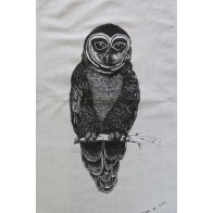 Laugh at Life Tea Towel - Owl
