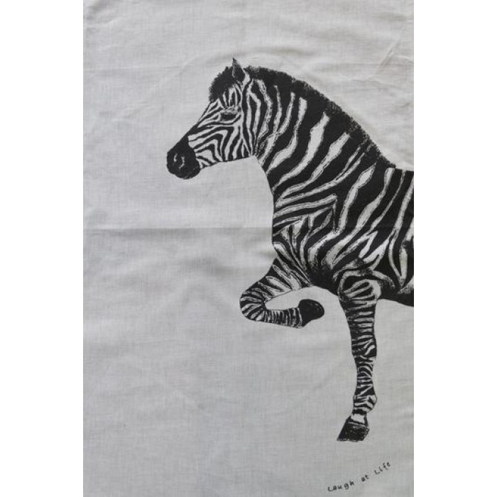 Zebra Tea Towels: Laugh At Life Tea Towel