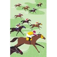 Racehorses Tea Towel