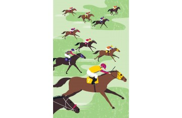 Racehorses Tea Towel