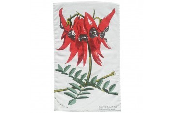 Australian Sturt's Desert Pea Tea Towel