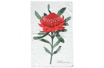 Australian Waratah Tea Towel
