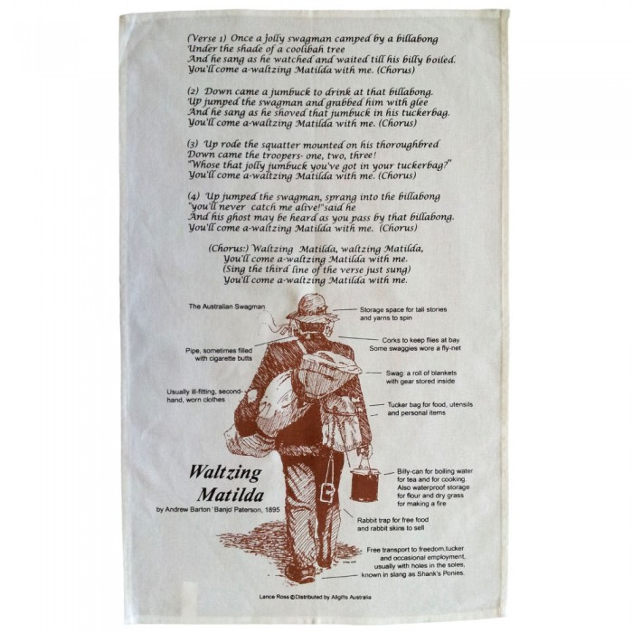 Waltzing Matilda Tea Towel